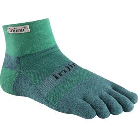 Injinji Trail MW Mini-Crew Xtralife Socks Emerald